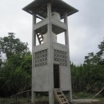 Concrete water tower in Amazon
