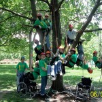 The 2013 research team, with Tree Climbing Kansas City.