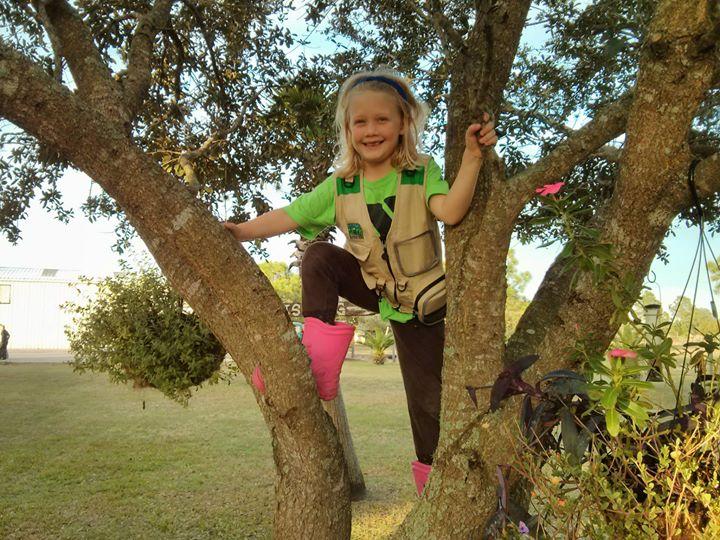 Sara loves to climb trees