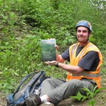 Science student Alex Young and his favorite textbook: Methods in Forest Canopy Research