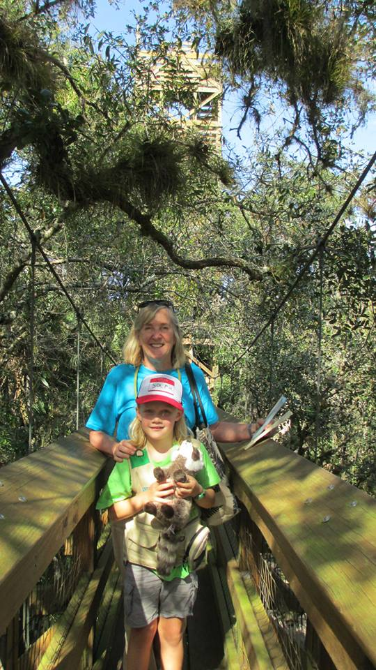 CanopyMeg with Sara Martin (Age 6) on the Myakka Walkway