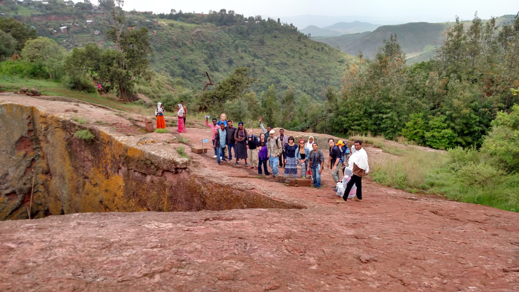 Summer 2015 REU team visiting the Lalibela cave churches, a UNESCO World Heritage Site.